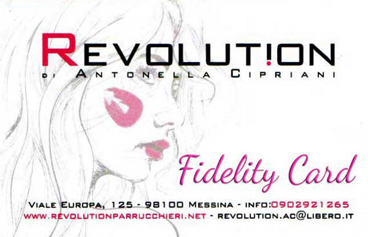 Tessera fedeltà Revolution Parrucchieri