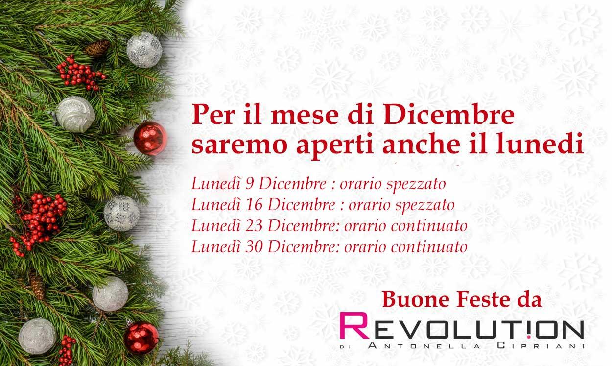 A Dicembre saremo aperti anche di lunedì