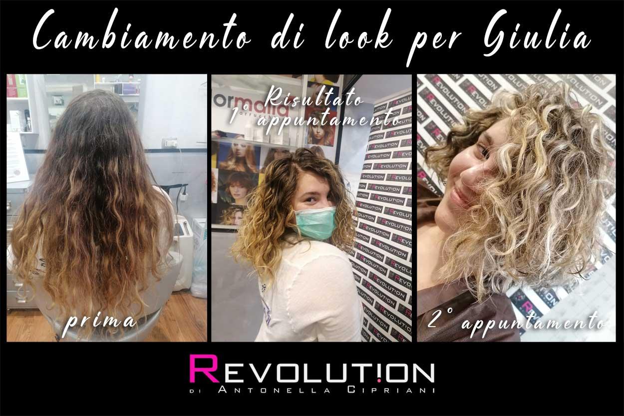Cambiamento di look per Giulia