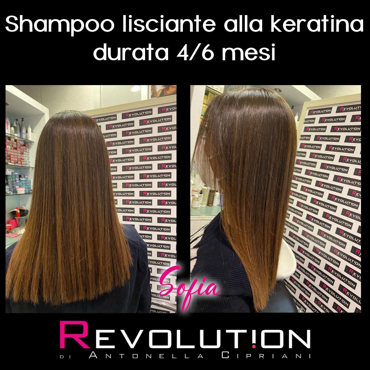 Shampoo lisciante alla keratina durata 4/6 mesi