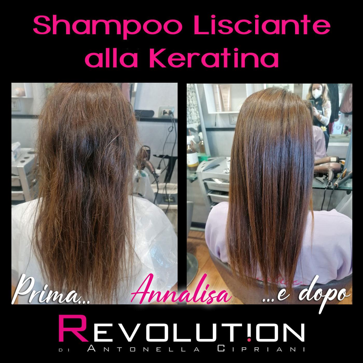 Shampoo lisciante alla Keratina